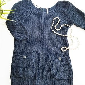 FREE PEOPLE knit tunic sweater with buttons